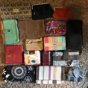 Large lot of wallets